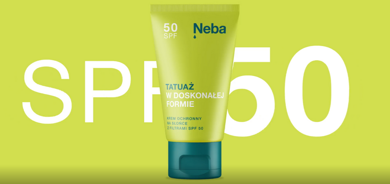Pielęgnacja tatuaży latem kosmetykami marki Neba